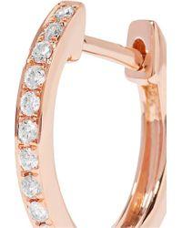 Anita Ko Multicolor Huggies 18-karat Rose Gold Diamond Earrings