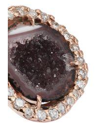Kimberly Mcdonald - Metallic 18-karat Rose Gold, Geode And Diamond Earrings - Lyst