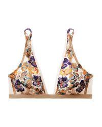Soutien-gorge Triangle À Bonnets Souples En Tulle Stretch À Broderies Wonderland Delights I.D Sarrieri en coloris Multicolor