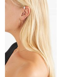 Loren Stewart - Metallic Queen Elz 14-karat Gold Cubic Zirconia Ear Cuff Gold One Size - Lyst