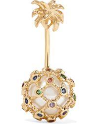 Yvonne Léon - Metallic 18-karat Gold Multi-stone Earrings - Lyst
