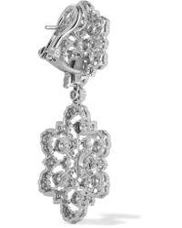 Parure Boucles D'oreilles Et Collier En Or Blanc 18 Carats Et Diamants Buccellati en coloris Metallic