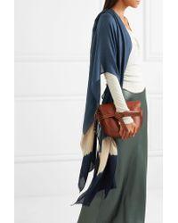 Melt Blue Tara Tie-dyed Cashmere And Silk-blend Scarf