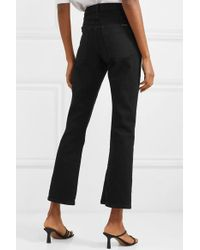 Eve Denim Black Jane Hoch Sitzende Schlagjeans