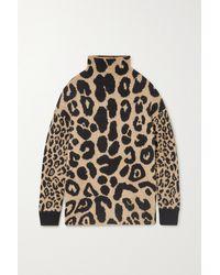 Stella McCartney Brown Strickpullover Mit Leopardenmuster