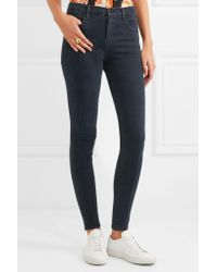 J Brand Blue Maria High-rise Skinny Jeans