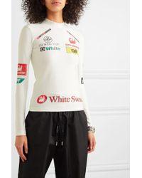 Haut En Jersey Stretch Imprimé Off-White c/o Virgil Abloh en coloris White
