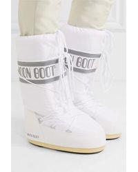 Moon Boot White Schneestiefel Aus Shell Und Gummi