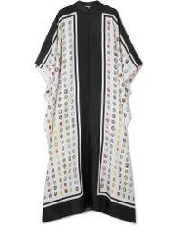 Rosie Assoulin - White Oversized Asymmetric Printed Silk-twill Maxi Dress - Lyst