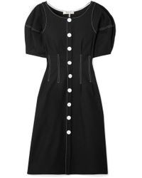 Sea Black Kamille Stretch-cotton Midi Dress