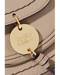 See By Chloé Natural Susie Small Textured-leather Shoulder Bag