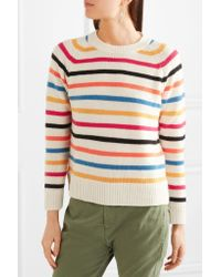 Chinti & Parker Pink Striped Cashmere Sweater