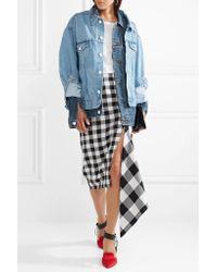 Monse Blue Oversized Layered Denim Jacket