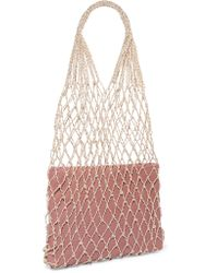 Loeffler Randall - Pink Adrienne Macramé And Leather Tote - Lyst