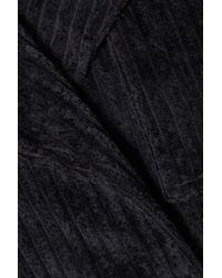 Michael Lo Sordo - Black Cotton-corduroy Trench Coat - Lyst