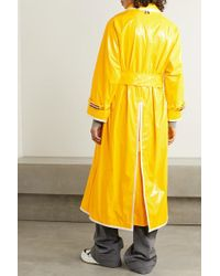 Thom Browne Yellow Belted Glossed-pu Trench Coat