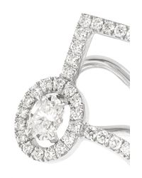 Messika Multicolor Glam'azone 18-karat White Gold Diamond Earrings
