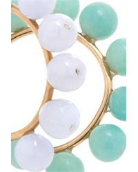 Saskia Diez - Blue Holiday Gold-plated, Chalcedony And Amazonite Ear Cuffs - Lyst