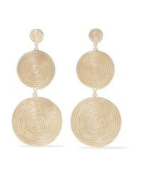 Elizabeth and James - Metallic Lorelai Gold-plated Earrings - Lyst