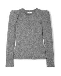 Co. - Gray Cashmere-blend Bouclé Sweater - Lyst