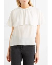 See By Chloé White Layered Chiffon Top