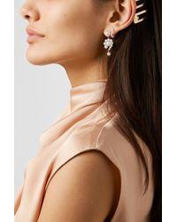Sophie Bille Brahe Metallic Escargot Ohrringe Aus 14 Karat Gold Mit Perlen