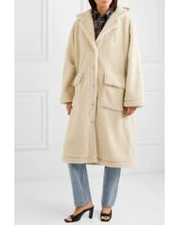 Stand Studio Natural Jessica Oversized-mantel Aus Shearling-imitat