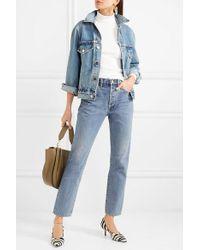 Goldsign Blue Benefit Hoch Sitzende Jeans Mit Geradem Bein