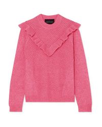 Needle & Thread Pink Ruffled Knitted Sweater