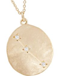 Brooke Gregson - Metallic Aries 14-karat Gold Diamond Necklace Gold One Size - Lyst