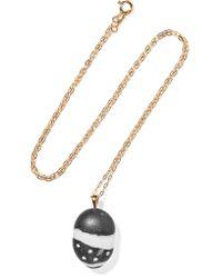 Cvc Stones - Metallic 18-karat Gold, Stone And Diamond Necklace Gold One Size - Lyst