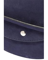 Theory Blue Whitney Suede Shoulder Bag