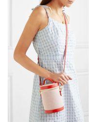 Paravel Red Crossbody Capsule Leather-trimmed Canvas Shoulder Bag
