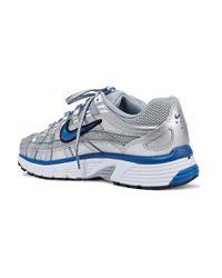 Nike P-6000 Sneakers Aus Metallic-leder Und Mesh