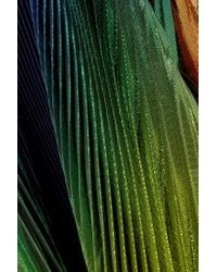 Rosie Assoulin Green Cutout Pleated Silk-blend Lamé Halterneck Gown