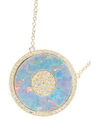 Jennifer Meyer - Metallic 18-karat Gold, Opal And Diamond Necklace - Lyst