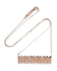 Suzanne Kalan - Metallic 18-karat Rose Gold Necklace - Lyst