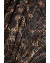 Robe Asymétrique En Mousseline Dévorée À Imprimé Léopard Et À Volants Esther Preen By Thornton Bregazzi en coloris Black