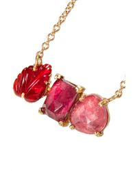 Brooke Gregson - Metallic Rivera 18-karat Gold, Tourmaline And Sapphire Necklace - Lyst