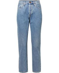 Goldsign Blue The Benefit High-rise Straight-leg Jeans