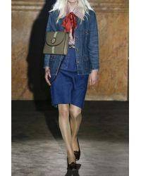 Gucci Blue Button-embellished Denim Jacket