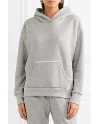 Simon Miller French Cotton-terry Hooded Sweatshirt Light Gray