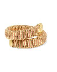 Carolina Bucci | Metallic Caro Gold-plated And Lurex Bracelet | Lyst