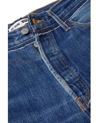 Re/done - Blue Levi's Distressed High-rise Straight-leg Jeans - Lyst