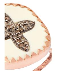 Pascale Monvoisin - Metallic Bowie N°2 9-karat Rose Gold, Sterling Silver, Diamond And Bakelite Ring - Lyst