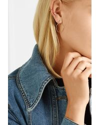Maria Black - Multicolor Laurel 14-karat Rose Gold, Diamond And Sapphire Ear Cuff - Lyst