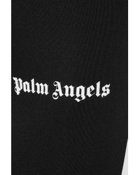 Palm Angels Black Logo Printed leggings