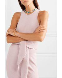 Isabel Marant Pink Silver-tone Beaded Choker