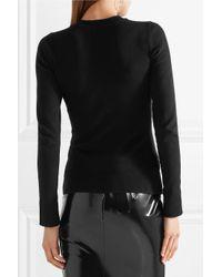 Joos Tricot Black Stretch Cotton-blend Sweater