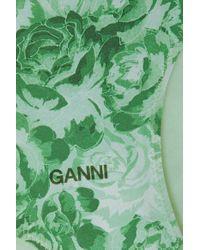 Ganni Green + Net Sustain Bedrucktes Bikini-höschen